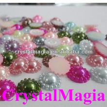 flower shape crystal pearl beaded accessory