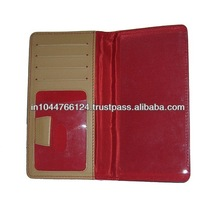 ADACHB - 0030 promotional red leather checkbook wallets / casual leather mens checkbook wallets