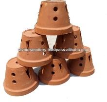 Sri lankan clay orchid pots