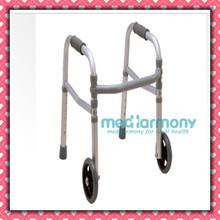Hospital walker for elder stainless disabled walker/folding walker with two wheels
