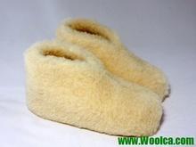 Closed-heel Indoor Wool Slipper Boots Pure Merino Wool Slippers Handmade Grey