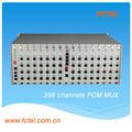 De largo alcance multiservicio 4u pcm mux 256 canal multiplexor pcm +4e1+4fe
