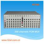 Long range multiservice 4U PCM MUX 256 channel pcm multiplexer +4E1+4FE