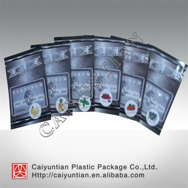 New design platinum xxx herbal incense potpourri bags/potpourri smoking /spice bag with zipper