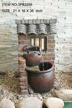 15 inch Polyresin Cascade Rock Garden Water Fountain