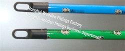 wooden broom stick PVC coat for broom handle