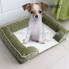 Square green pet bed