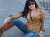 Italian soft Genuine lambskin leather slim fit asymmetrical women jacket color pull up tan