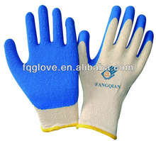 FQGLOVE blue economic latex palm coated gloves