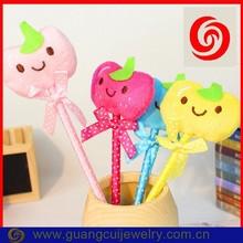 Fashion plush fruit shape pen