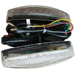 universal LED Tail stop brake light motorcycle dual sport atv supermoto custom