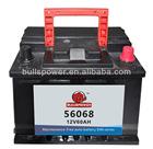 56068 12v60ah mf 12v60ah power volt battery dealers,cell battery 56068,refurbished car battery