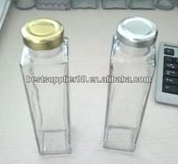 350ml square beverage/juice glass bottle