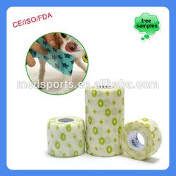 Dog Printed Breathable Cohesive Wrap Fda