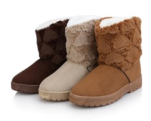#032 2014 Winter cheap super warm women Snow Boot three colors to choose