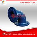 Iso2531/en545 hierro dúctil doble brida bend accesoriosdetubería con recubrimiento epoxi