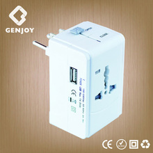 GENJOY travel adapter gift set with usb 1.0A CE ROHS FCC approved A0311