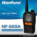 Nanfonenf-669a100ช่อง136- 174mhz5wvhfเครื่องส่งรับวิทยุfmหน้าจอlcdขนาดใหญ่