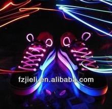 The 1st generation of glowing led shoelaces orange led shoelace charms wholesale magic shoelaces