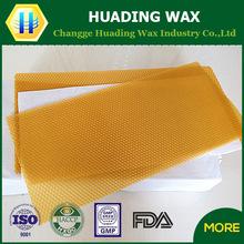 Huading factory supply natural yellow beeswax foundation