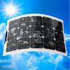 45W 12V High Efficiency Semi Flexible Solar Panel RV Boat