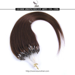 ZSY 2014 hot sale high quality human hair extensions easy loop micro ring