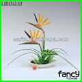 la decoración de la flor bonsái artificial de aves del paraíso