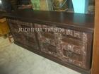 Antique wooden side board Carved Side Cabinet living room furniture tv cabinet and side board