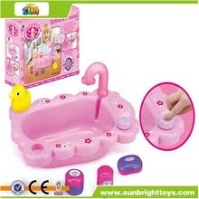 Bateria incluída rosa musical do bebê lavatório