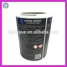 packaging self adhesive promotional black logo label adhesive