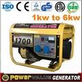 1500w manual gasolina gerador para venda com um ano de garantia