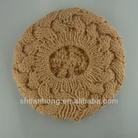 knitted fashion ladies polar fleece winter hat