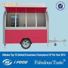 big wheels sliding windows electric mobile food carts/hospital food carts/outdoor food cart