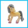 Little flocking gnu toy animal,pvc plastic children's toys