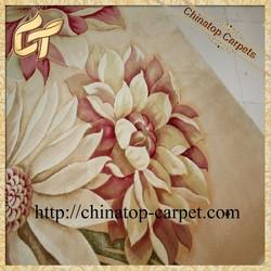 high quality flower wool rug