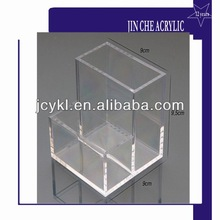 clear acrylic business card holder with pen holder