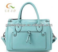 Pretty tote high end handbag hardware with removeable long strape