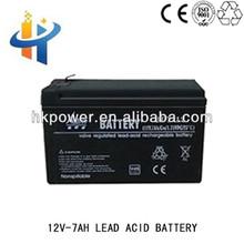 Deep cycle rechargeable ups , 12V 7AH lead acid battery, 12V gel battery