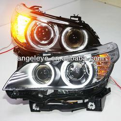For BMW original car with OEM HID kit E60 523i 525i 530i LED Head Light CCFL Angel Eyes2004-2008 Year