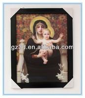 make good religious 3d lenticular photo frame of saint marry