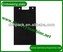 Embossing plate for leather for flatten in china