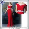 PP0234 Beaded Off Shoulder Red Designer One Piece Party Dress 2014
