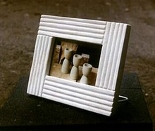White Stone Picture and Photo Frame