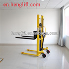 Good quality 1.0ton lifting 1600mm SYC series single chain manual hand stacker forklift