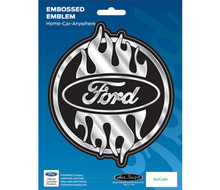 FORD CLASSIC EMBLEM - Chrome car sticker