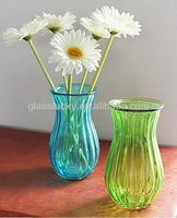hot sale machine made colored cheap glass vase for Home Decoration