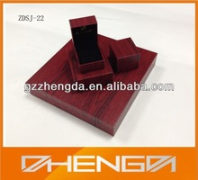 Custom Antique Leather Jewelry Ring box with Customized Logo