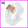 new product 2014 wholesale fashion jewelry 2 White ceramic finger ring new design gold finger ring 2 finger ring