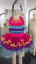colorful rainbow pancake few layers tutu dress- fashion competion lovely cute child wear dance- ballet tutu