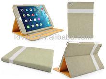 2014 New design Folder PU Tan Leather Flip Case Cover For ipad air